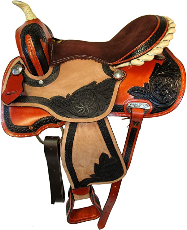Details about  /COWGIRL WESTERN SADDLE BARREL RACING RACER 16 15 TRAIL PLEASURE TOOLED LEATHER