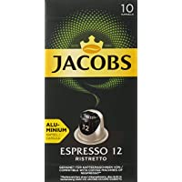 Jacobs Espresso 12 Ristretto - Nespresso®* Compatible Aluminium Coffee Capsules - Pack of 10 Capsules (10 Drinks)