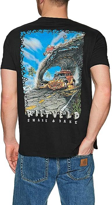 Rietveld Clothing - Camiseta de Surf para Hombre, Color Negro: Amazon.es: Ropa y accesorios