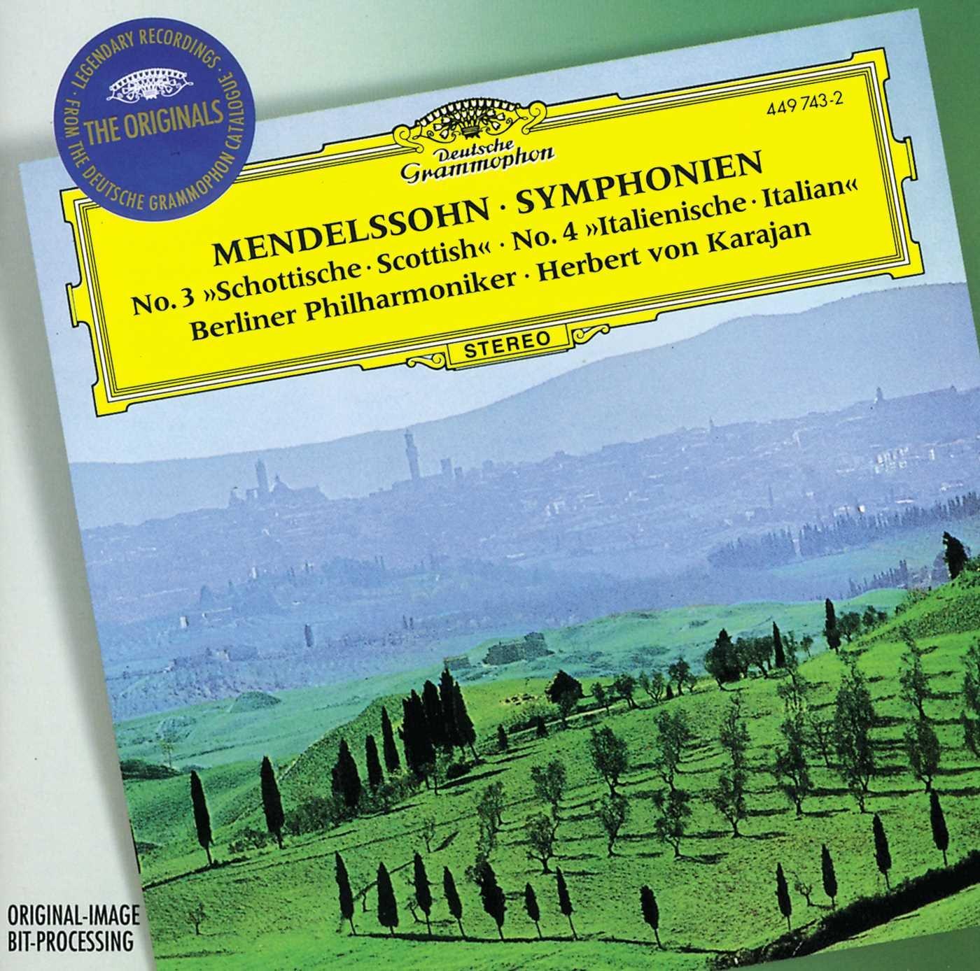 CD : Herbert von Karajan - Symphonies 3 & 4 /  Hebrides Overture
