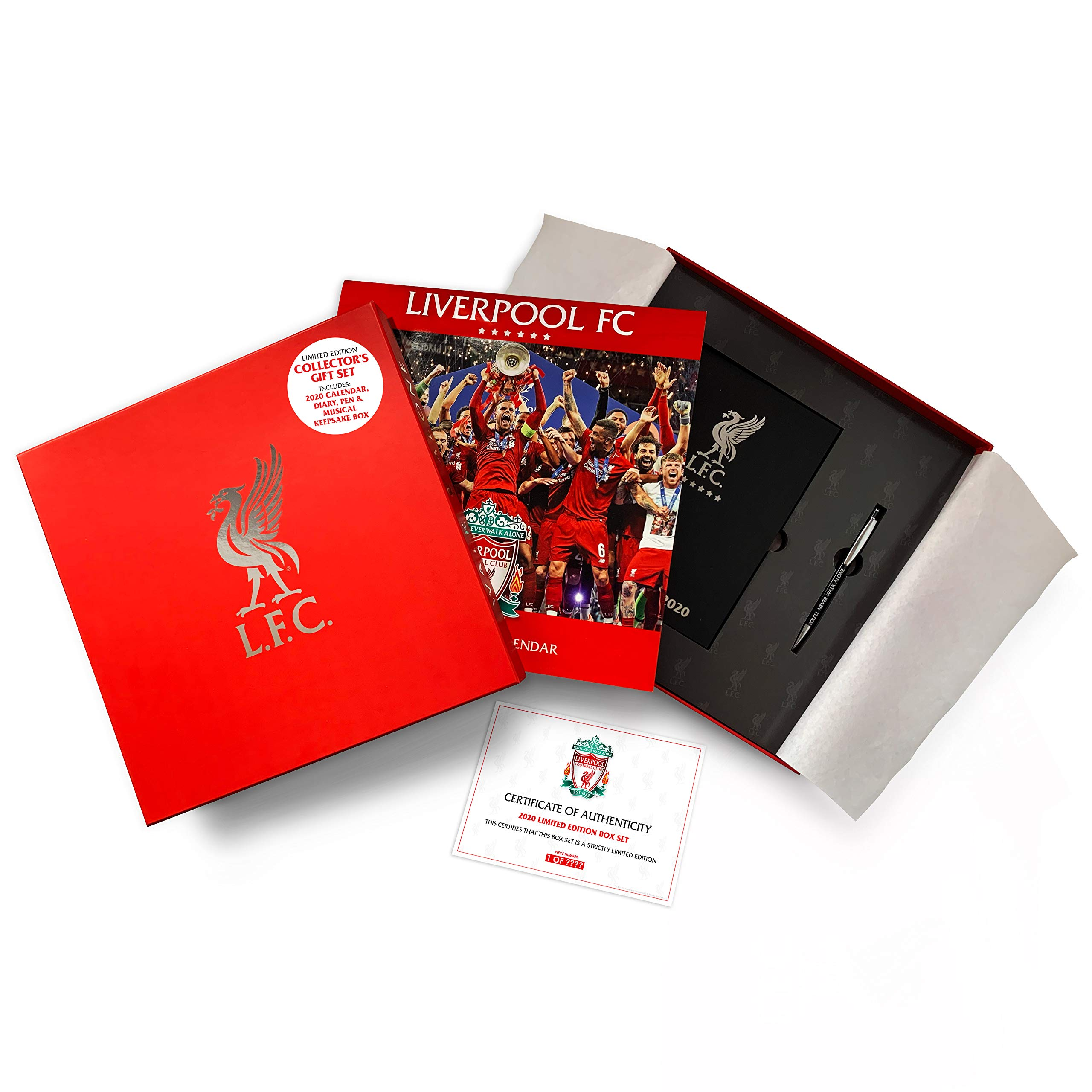 Buy Liverpool Fc 2020 Calendar Diary Pen Box Set Official Calendar Diary Pen In Musical Presentation Box Collectors Box Set Book Online At Low Prices In India Liverpool