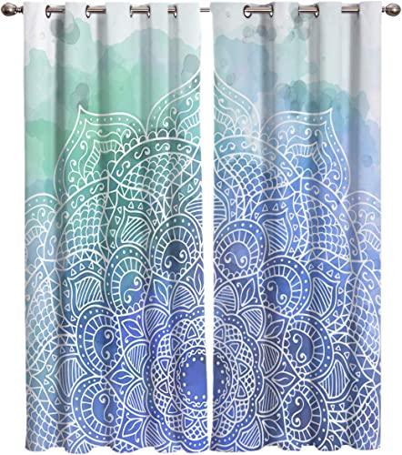 Room Darkening Blackout Curtain 63 inch Length Grommet Thermal Insulated Drape