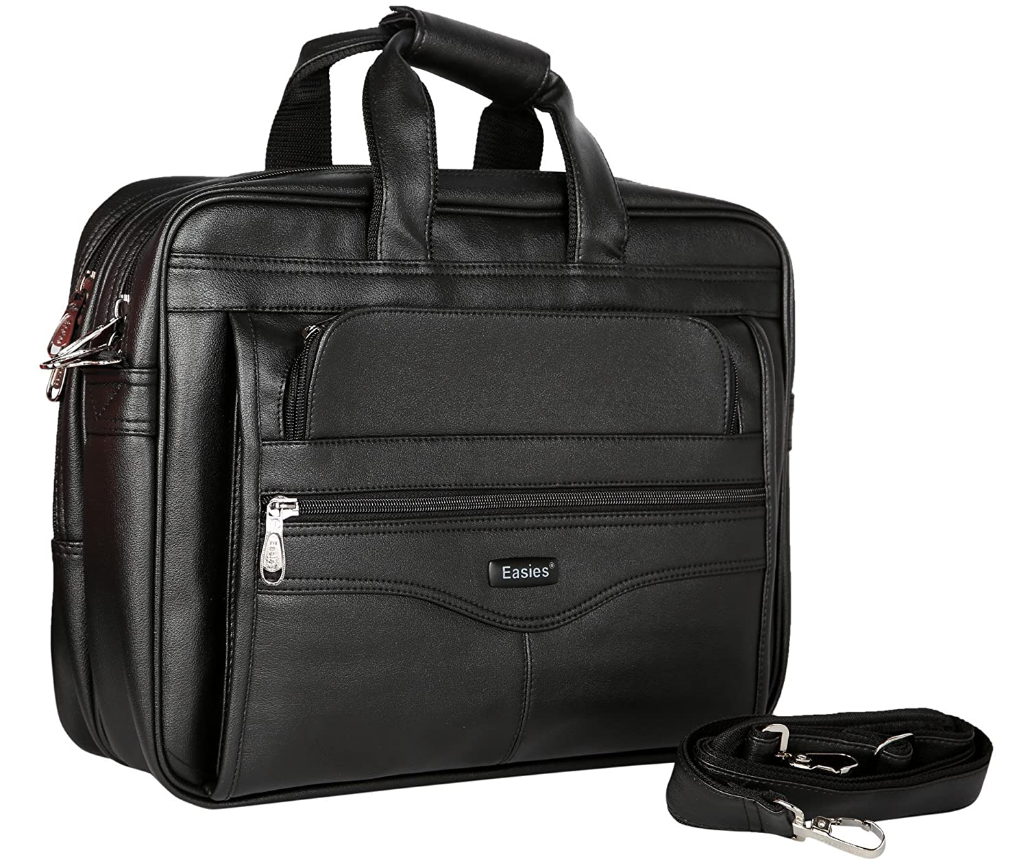Easies Black Faux Leather 25Litres Laptop Bag: Amazon.in: Bags ...