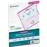 Printworks White Cover Stock, Ultra Premium, 100 lb. Cover, 50 Sheets, 8.5 x 11, 97 Bright, For Cards, Photo & Frame Mats, Cutting, and Craft Projects (00566)