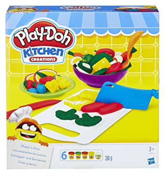 Play Doh B9012eu40 Kitchen Creations Shape N Slice Play Set Amazon