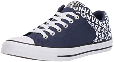 91159eb00abb Converse Men s Unisex Chuck Taylor All Star Street Wordmark Low Top Sneaker  White Navy