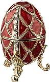 Design Toscano Emaillierte Eier im Faberge-Stil, Goldenes Gitter: Ei, rouge