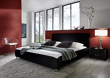Cats Collection Design Lederbett 140 x 200cm schwarz: Amazon.de ...