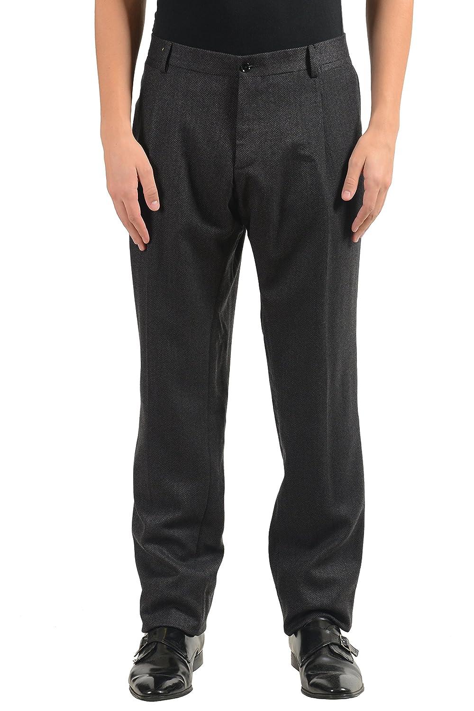 Dolce & Gabbana メンズ ウールプリーツドレスパンツ B07765JHY9  グレー US 36 IT 52