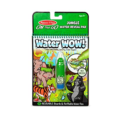 Melissa & Doug On The Go Water Wow! Reusable Water-Reveal Coloring Activity Pad – Jungle: Toys & Games