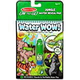 Melissa & Doug On The Go Water Wow! Reusable Water-Reveal Coloring Activity Pad – Jungle