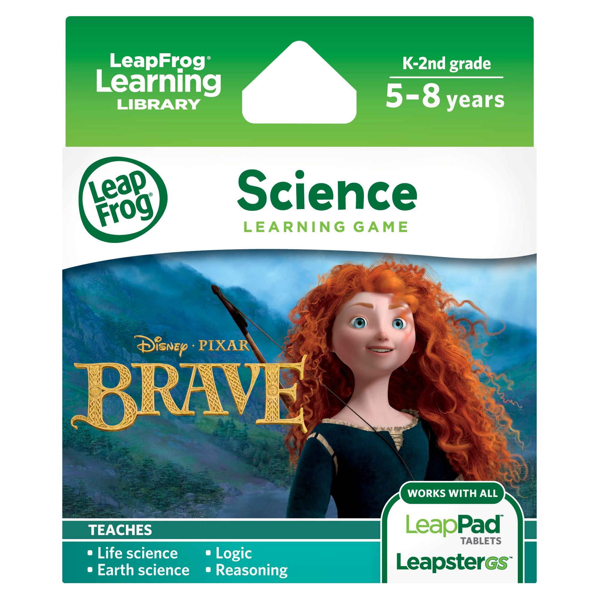 LeapFrog Disney Pixar Brave Learning Game (Works with LeapPad Tablets, LeapsterGS, and Leapster Explorer) by LeapFrog