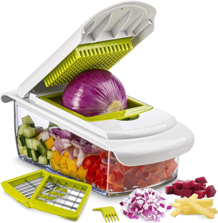Tiabo Vegetable Chopper Slicer Dicer - Onion Chopper 3 Blade Chop Slice Dice - No More Tears Onion Slicers Choppers - Cheese - Onions - Fruits Vegetable Cutter