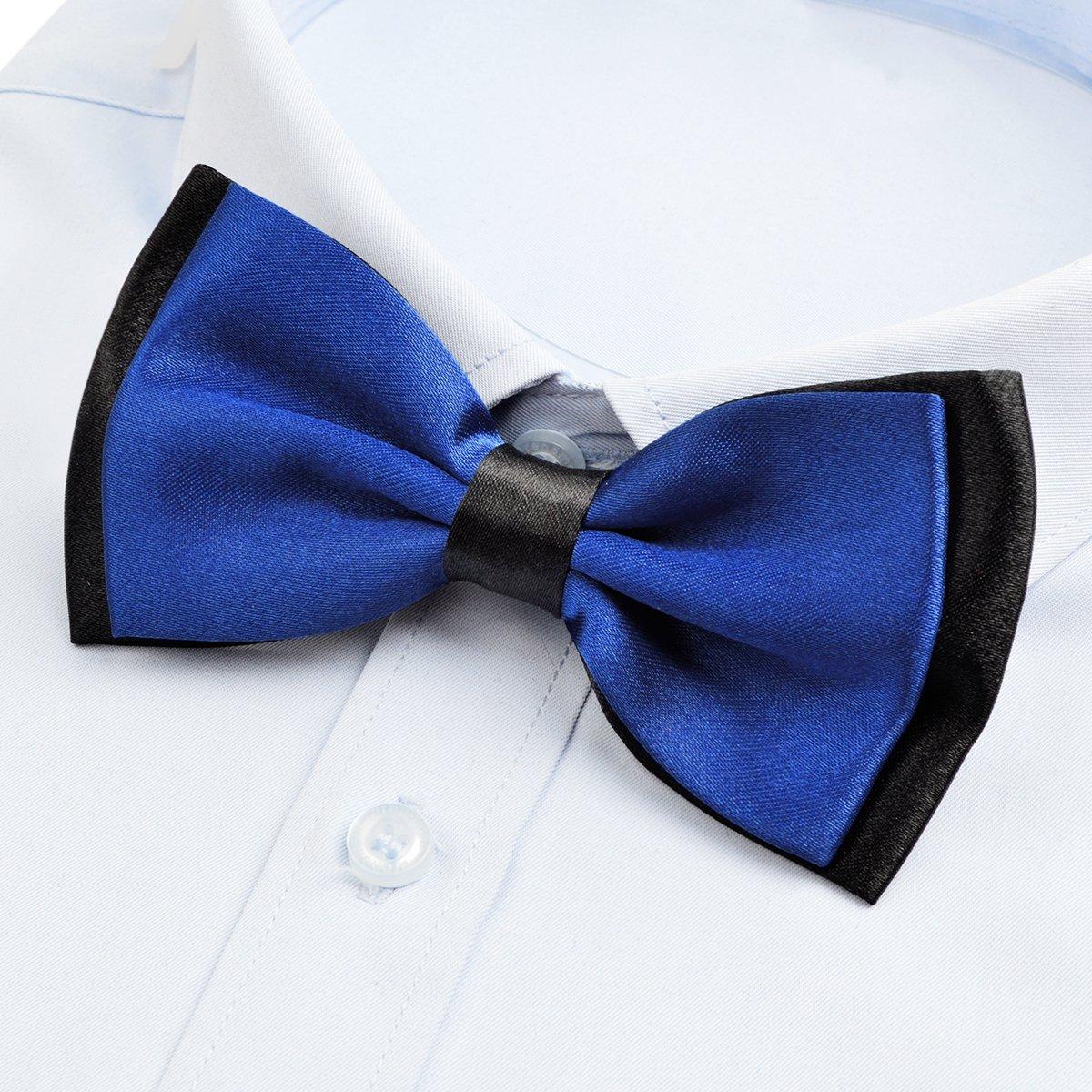 Alizeal Mens//Boys Adjustable Pre-tied Bicolourable Bow Ties