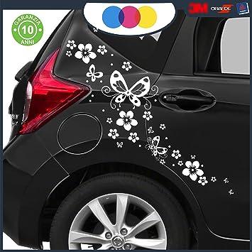 Exceptionnel Just Go Online S.l.u. Stickers Pour Voiture U2013 Fleurs Et Farfalle  Voiture  Machine U2013 Nouveauté