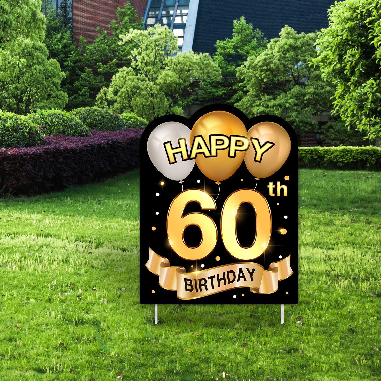 Yangmics Direct 60th Birthday 1960 - Outdoor Lawn Sign - Yard Sign - 1 Piece -Green