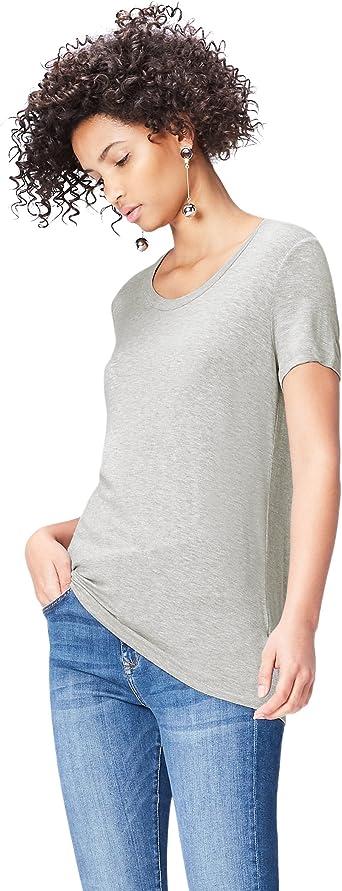 Marca Camiseta con Cuello Redondo Mujer find
