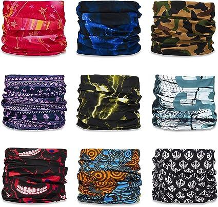 Mask Bandanas for Dust Headwear Sweat Wicking Headbands Fashionable Camouflage Multifunctional Yoga Sports Stretchable Seamless