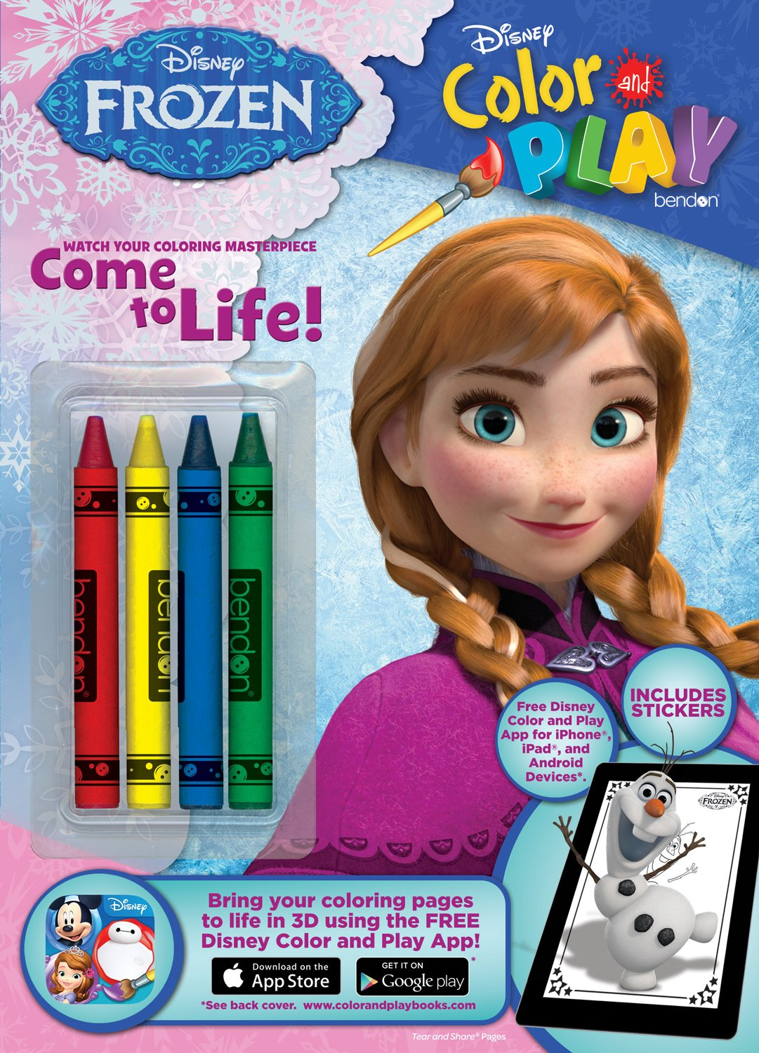 Bendon Disney Frozen Color And Play 32 Page Activity Book COR 9781505003826 Amazon Books