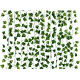 Dedoot Ivy Garland, 12 Pcs (79 Inch Each) Fake Ivy Garland Leaves Artificial Poison Ivy Leaves for Craft Costume Wedding…