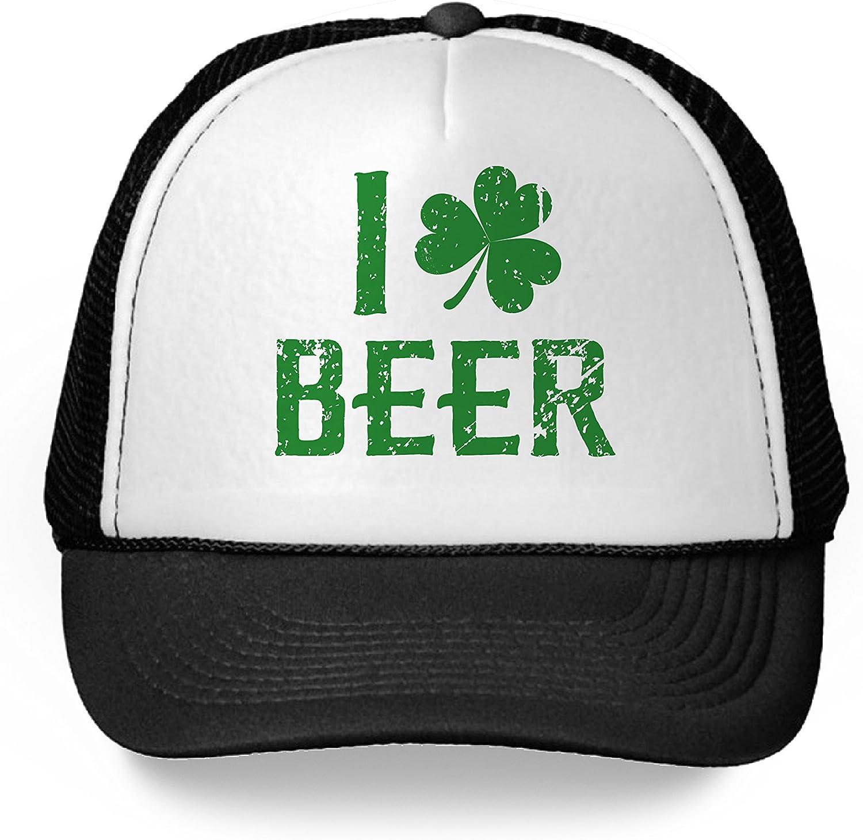 I Love Beer Adult Cap Trucker Hat St Patrick/'s Day Gift Irish Hat
