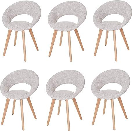 Mendler Set 6X sedie Palermo III Design Sala Pranzo Tessuto