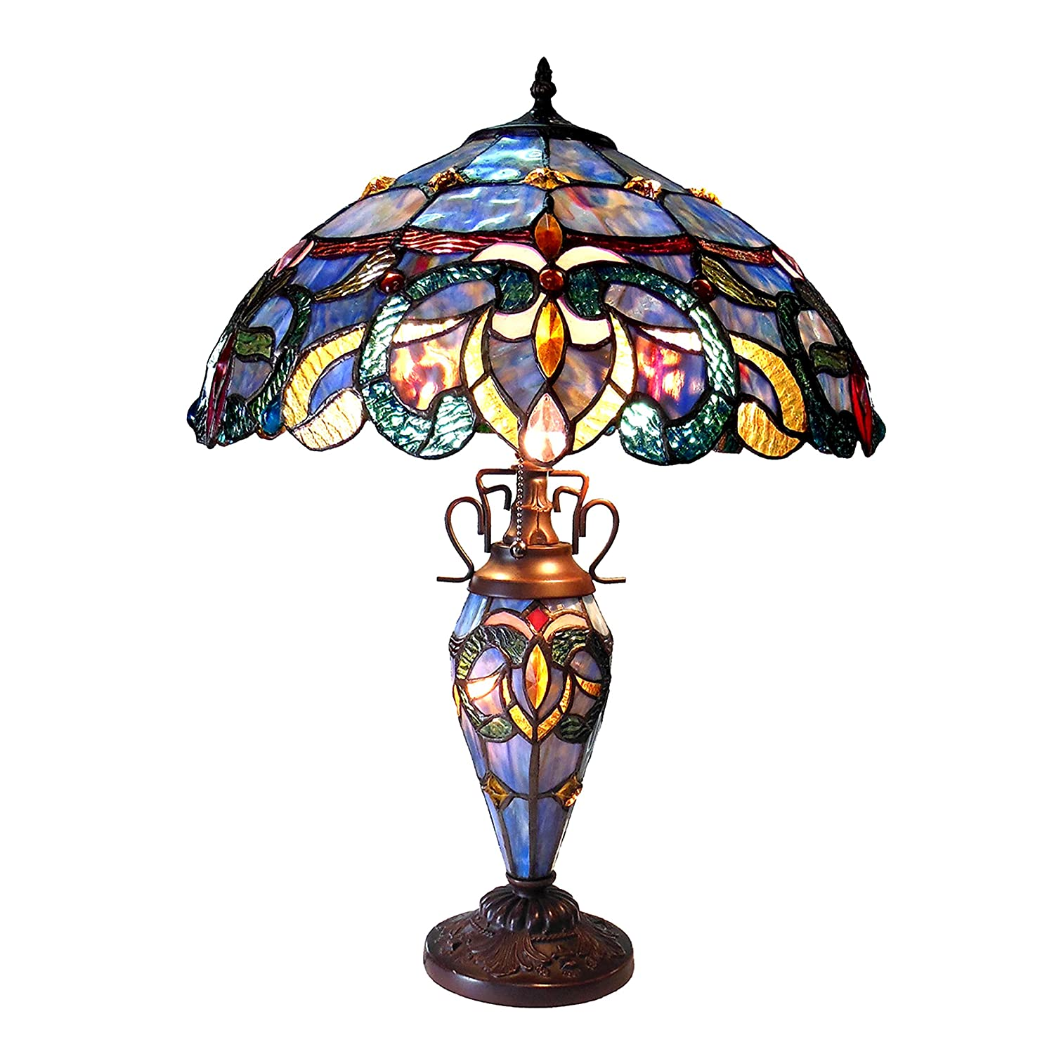 CHLOE Lighting CH18091PV18-DT3 Nora Double Lit Table Lamp, One Size, Multicolor