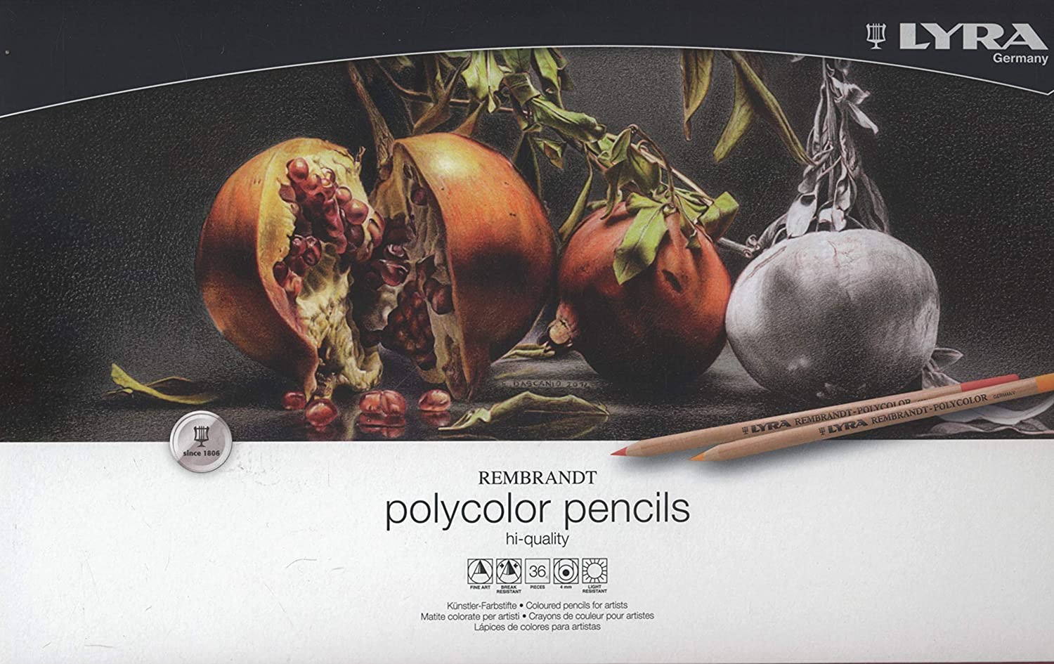 Amazon LYRA Rembrandt Polycolor Art Pencils Set Of 36 Assorted Colors 2001360 Supplies Office Products