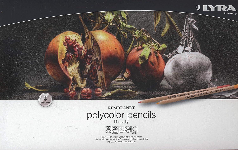 36 Lápices de colores Lyra Rembrandt Polycolor, Variados xmp