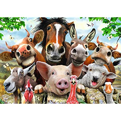 Gotry Puzzles 1000 Piece for Adults, Micro-Sized Personalized Gift Animal Family Jigsaw Puzzle Boring Toy at Home (Animal 4): Toys & Games
