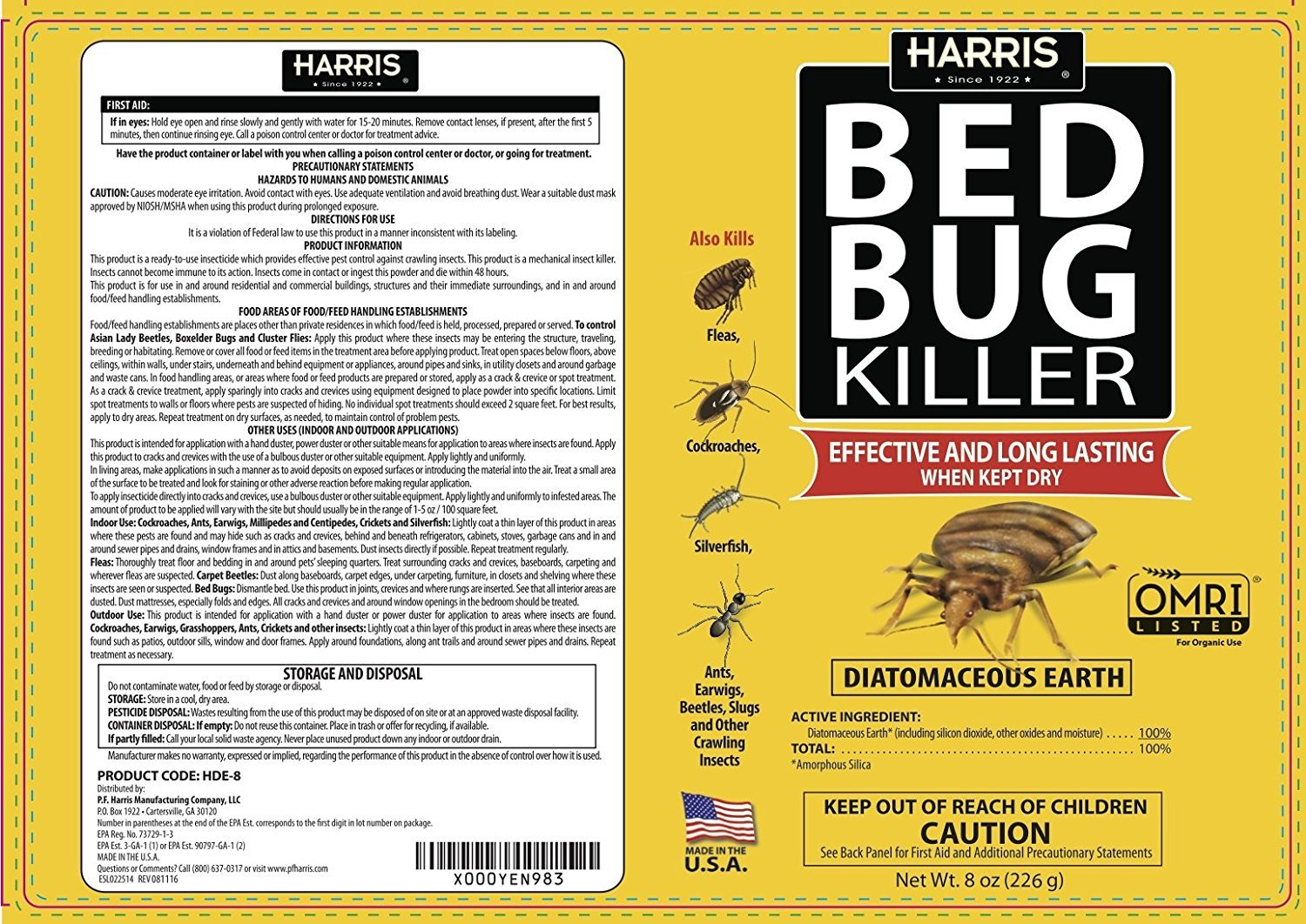 bug bed killer diatomaceous bugs oz brand us safer sb earth