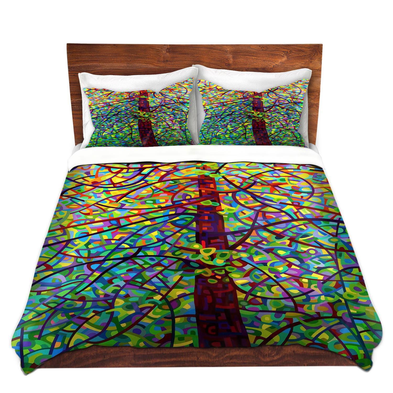 DiaNoche Designs Mandy Budan-Kaleidoscope Brushed Twill Home Decor Bedding Cover, 8 King Duvet Sham Set
