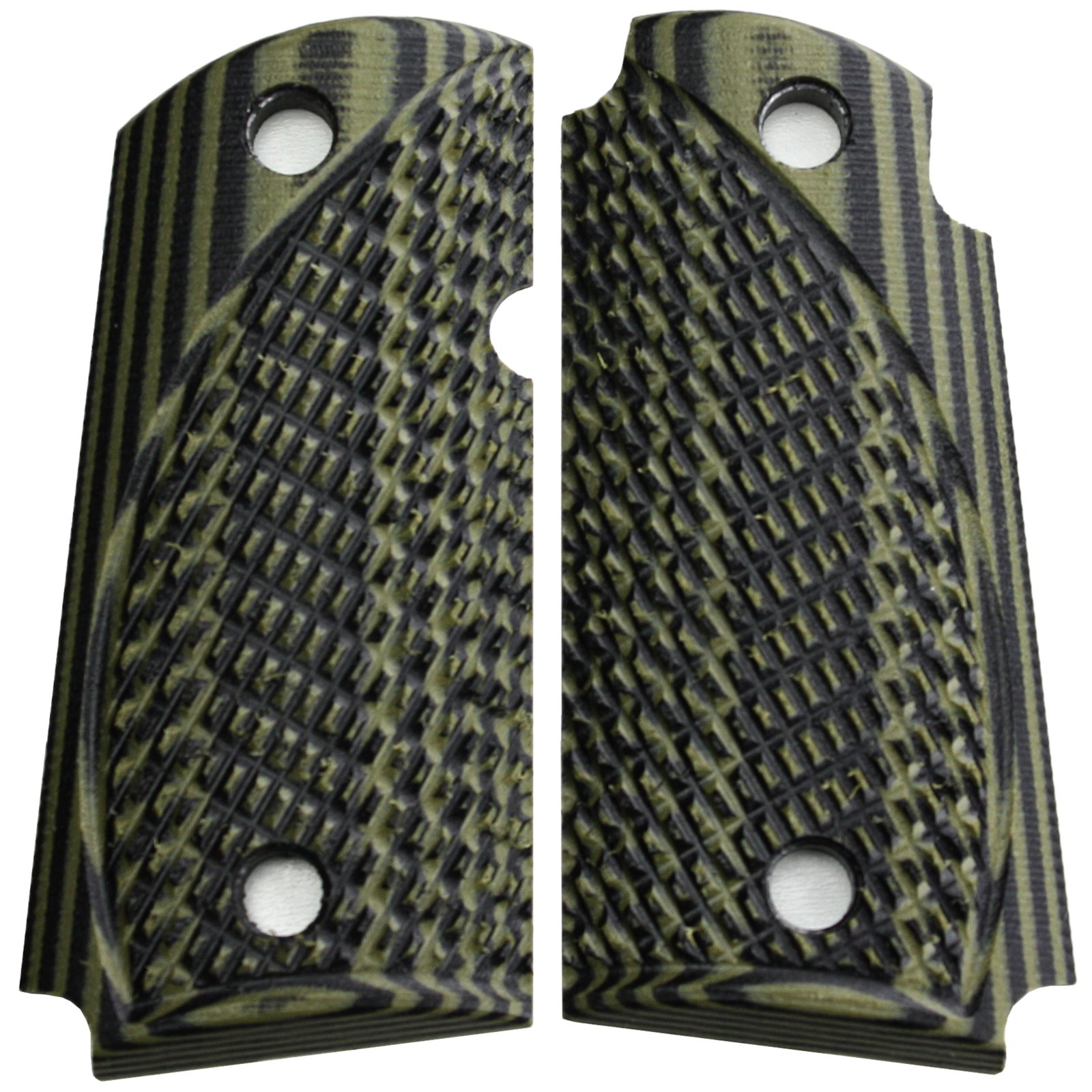 StonerCNC Kimber Micro Carry 9 9mm Spartan G10 Grips with or Without Ambi (OD Green Black, Ambi) by StonerCNC