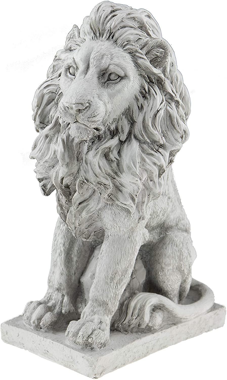 Lion Resin Garden Statue   Outdoor Indoor Figurine Gift Decoration for Home Décor, Patio, Yard, and Garden