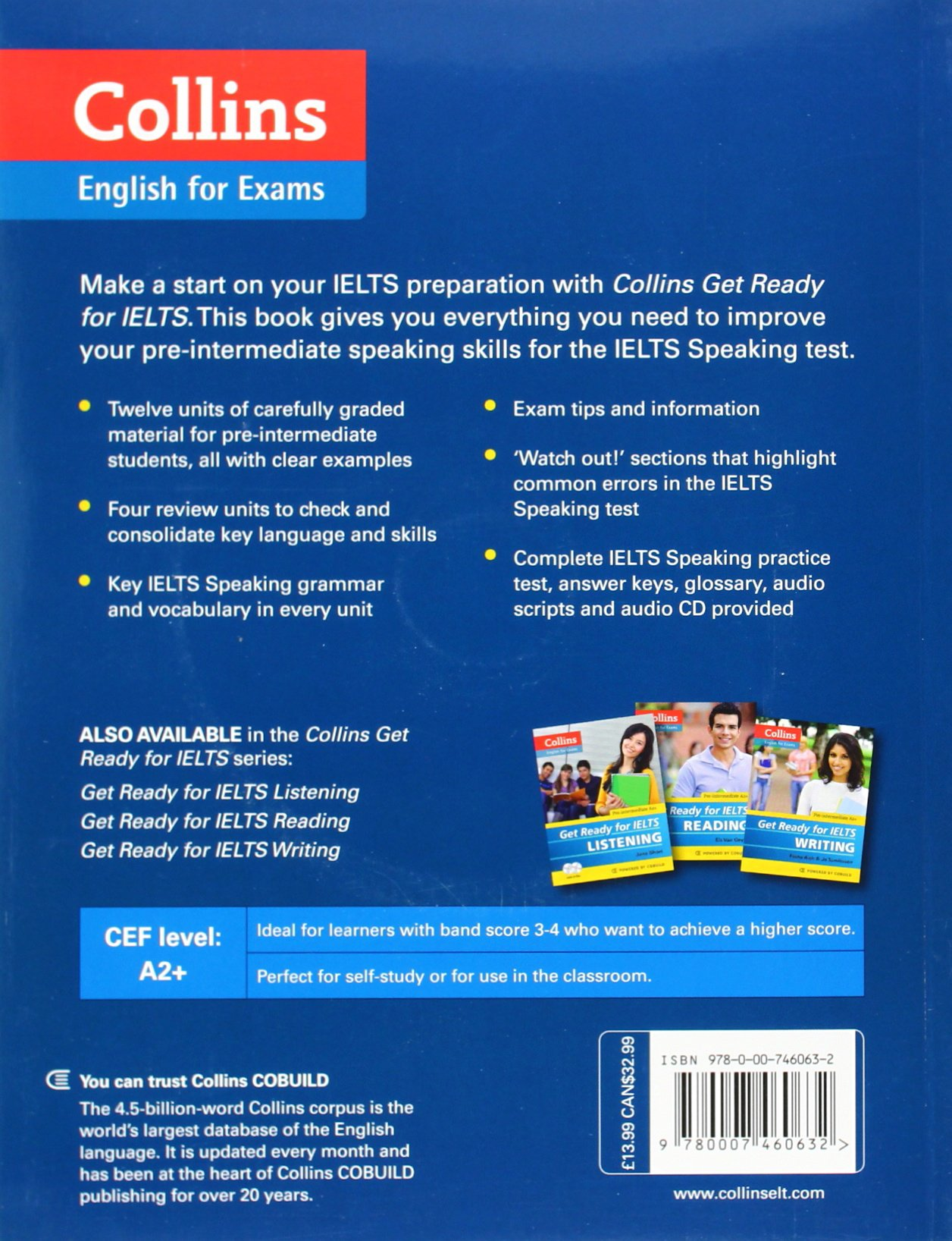 Collins get ready for ielts speaking collins 9780007460632 books amazon ca