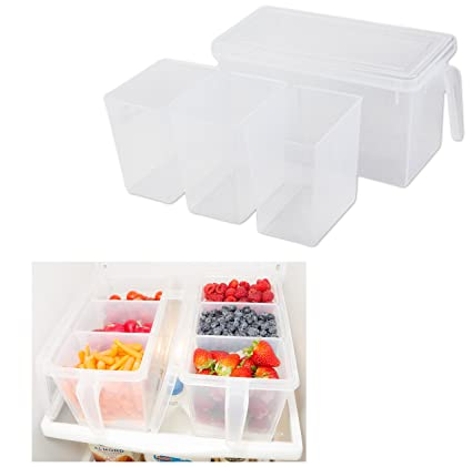 Amazoncom Refrigerator Organizer Container Clear with Lid