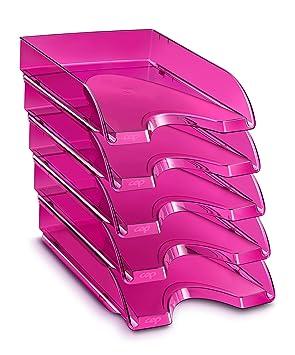 CEP Happy - Lote de 10 bandejas compactas, color fucsia: Amazon.es: Oficina y papelería