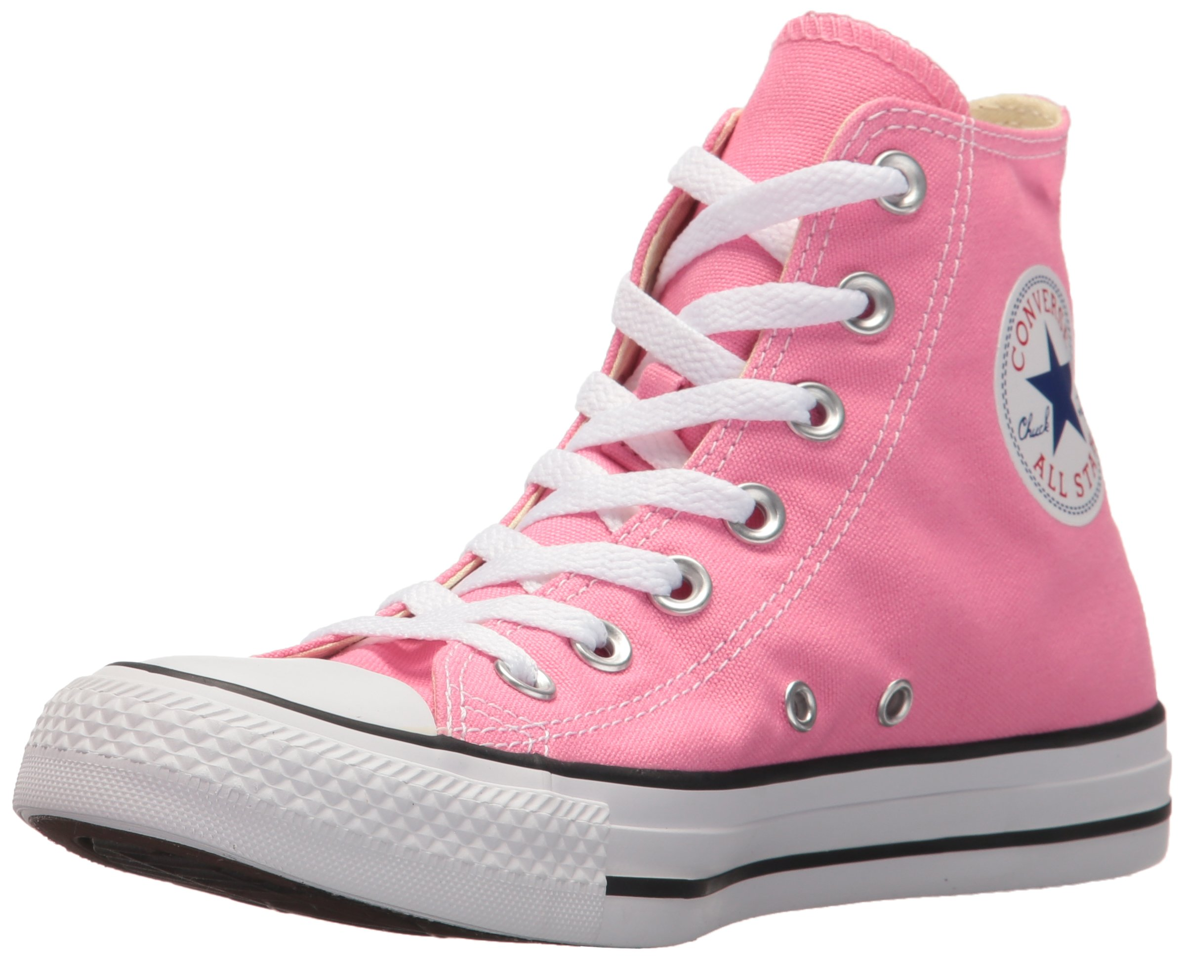Converse Chuck Taylor All Star Canvas High Top Sneaker, Pink, 8 B(M) US Women/6 D(M) US Men by Converse