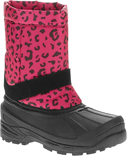 NEW 5F TEMP RATED INSULATED WINTER BOOTS SIZE 12 TODDLER GIRLS PINK//BLACK