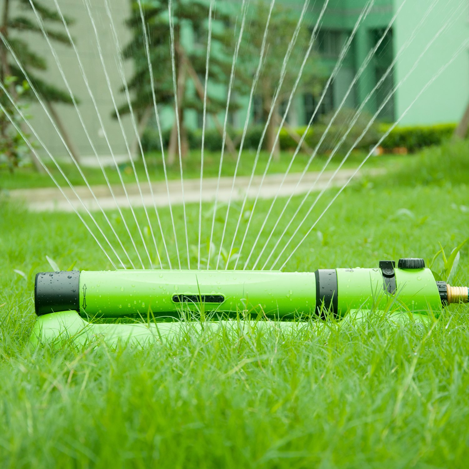 YeStar Garden Lawn Oscillating Sprinkler, Luxury 3 in 1 Yard Sprinkler System with One Touch Width Control & Flow Control, 3-way Adjustment, Waters Up to 3,000 Sq. Ft.