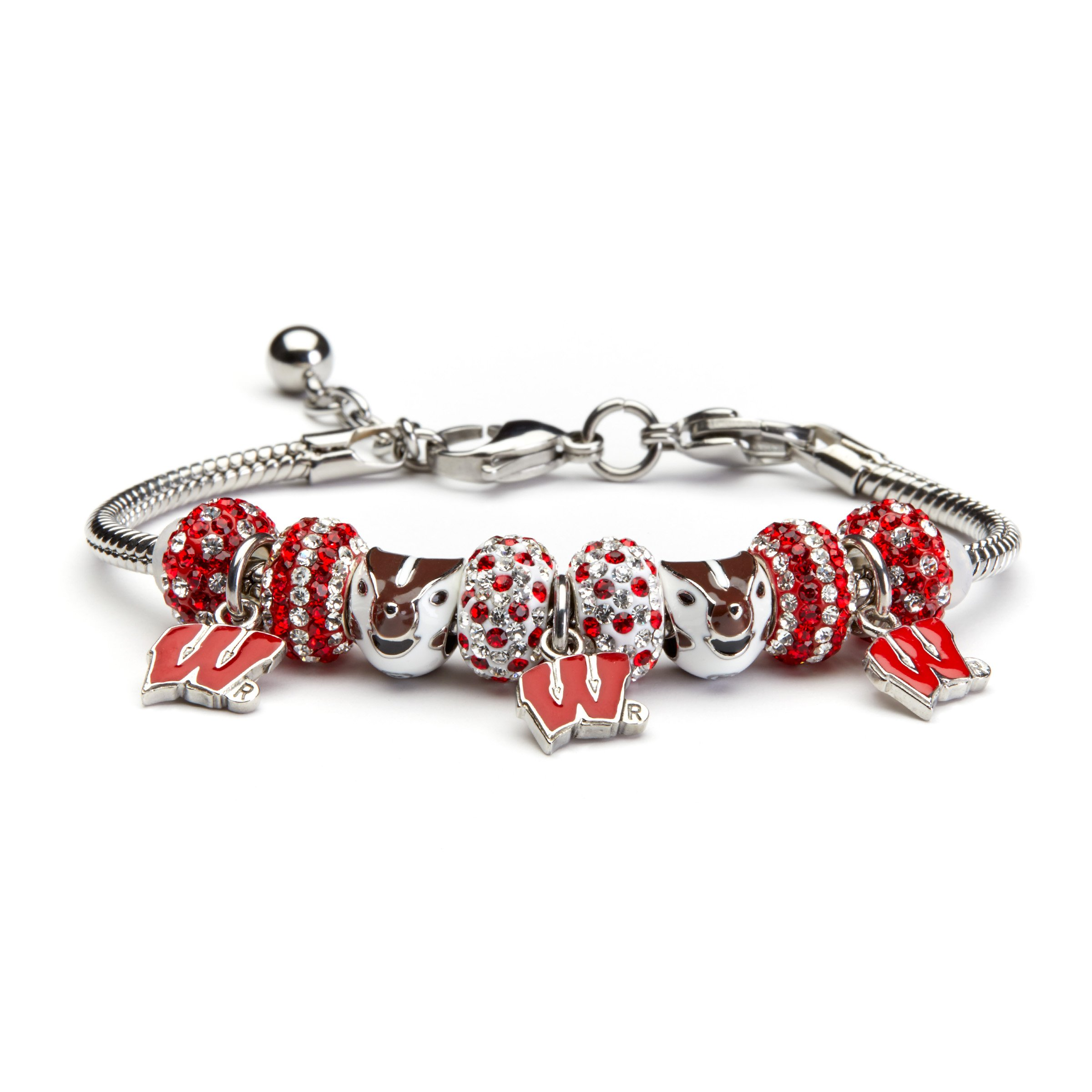 Stone Armory University of Wisconsin Bracelet | UW Bracelet | Officially Licensed University of Wisconsin Jewelry