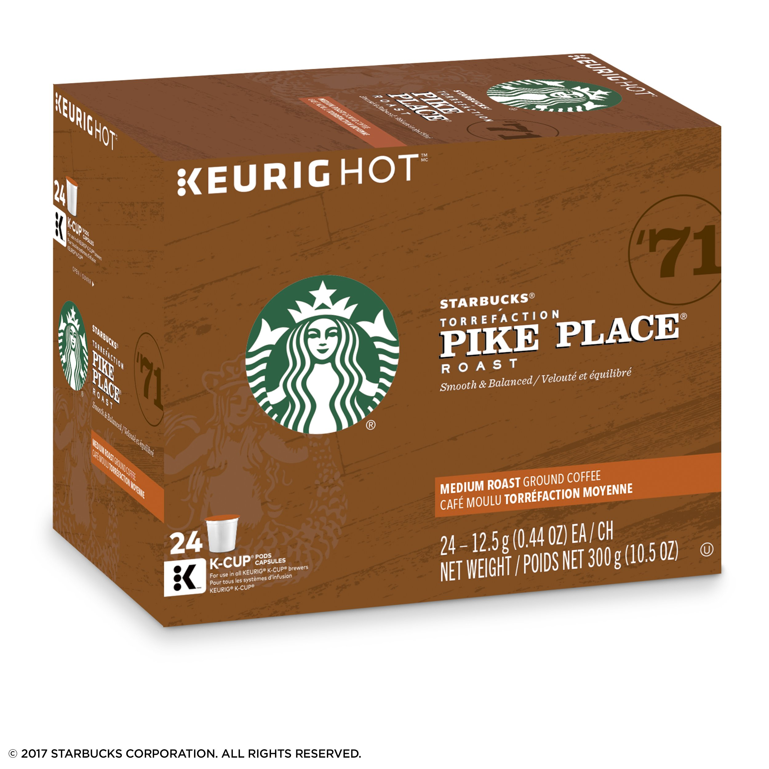 Starbucks Pike Place Roast Medium Roast Single Cup Coffee for Keurig Brewers, 4 boxes of 24 (96 total K-Cup pods) by Starbucks (Image #5)