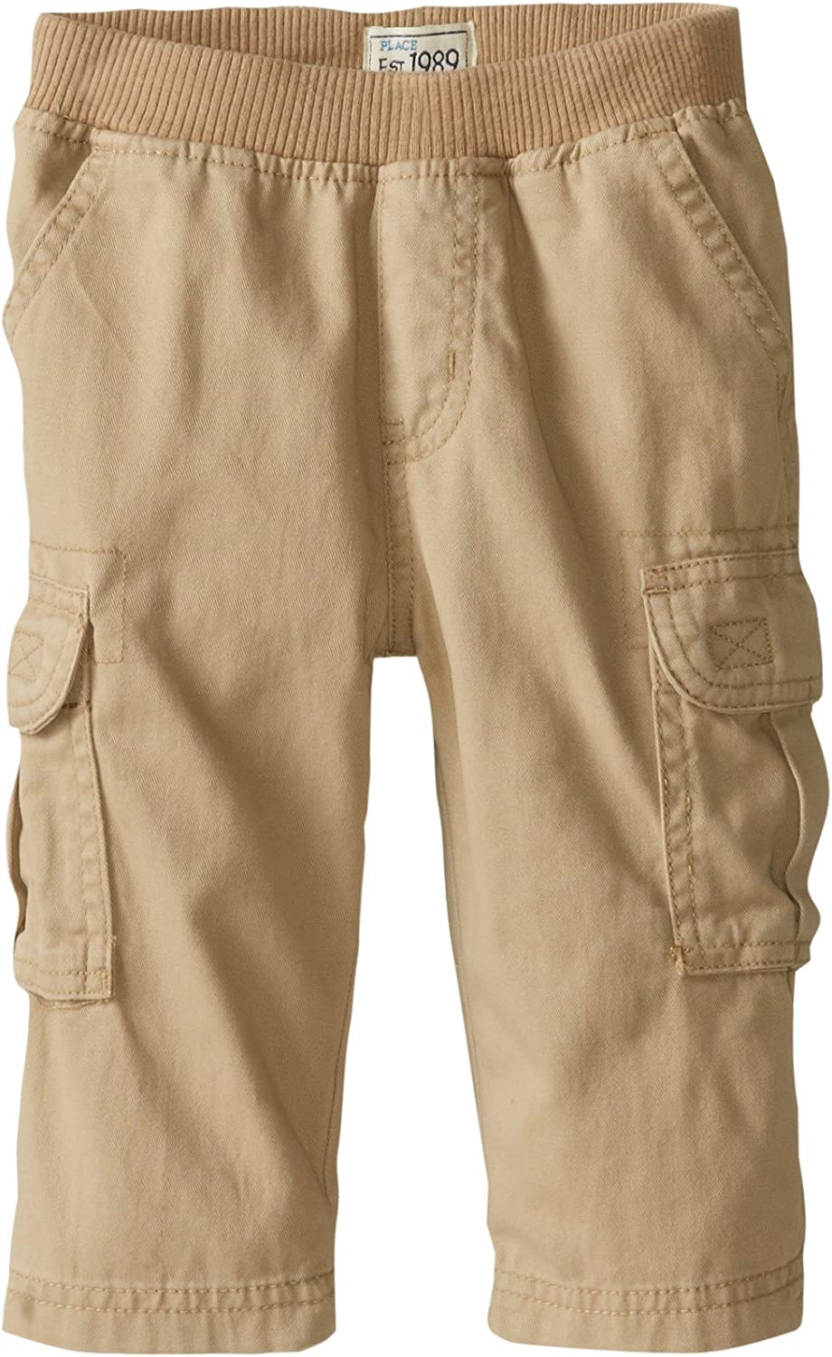 The Children's Place Boys' Baby and Toddler Uniform Pull on Chino Cargo Pants: Clothing