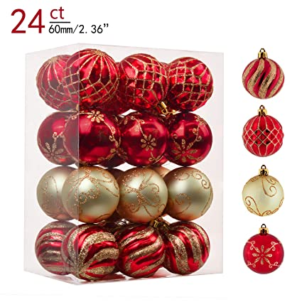 0f56b9e4c70 Amazon.com  Teresa s Collections 24ct 60mm Warmly Red and Gold ...