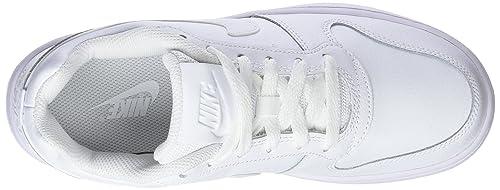 Nike WMNS Ebernon Low, Chaussures de Basketball Femme, Blanc