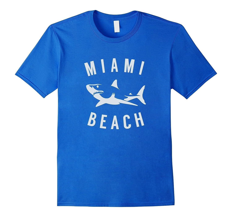 Miami Beach Florida T Shirt Shark FL Souvenirs-TJ