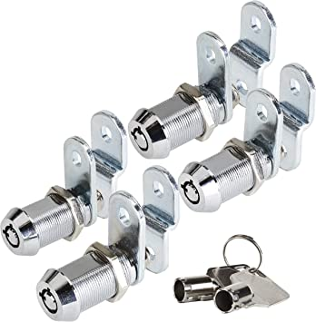 "12 /& 3 o/'clock key pull extra parts 2 x Tubular Cam Locks w// 1-1//8/"" cylinders"