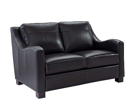 Amazon.com: Oliver Pierce OP0354 Colton Italian Leather Sofa ...