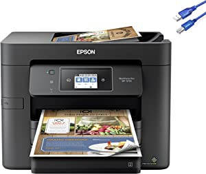 2021 Epson Workforce Pro WF-3733 Wireless All-in-One Color Inkjet Printer Home Office, Print Scan Copy Fax, 20 ppm, 500-Sheet, Auto 2-Sided Printing, 2.7