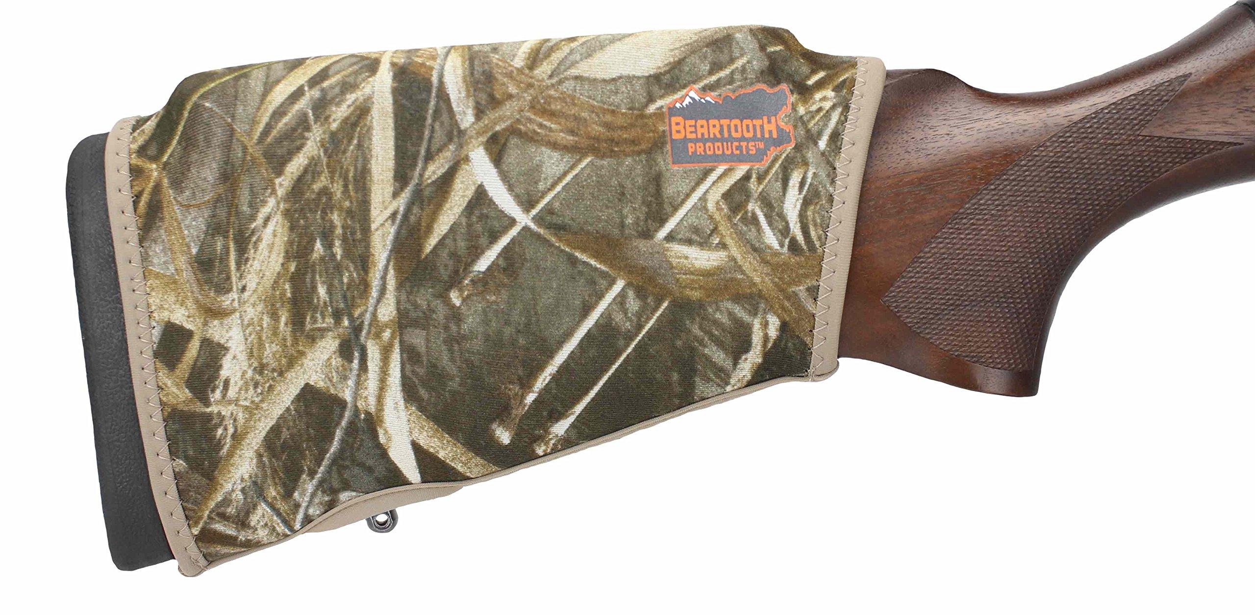 Beartooth Comb Raising Kit 2.0 - Premium Neoprene Gun Stock Cover + (5) Hi-density Foam Inserts - NO LOOPS MODEL (Realtree Max-5)